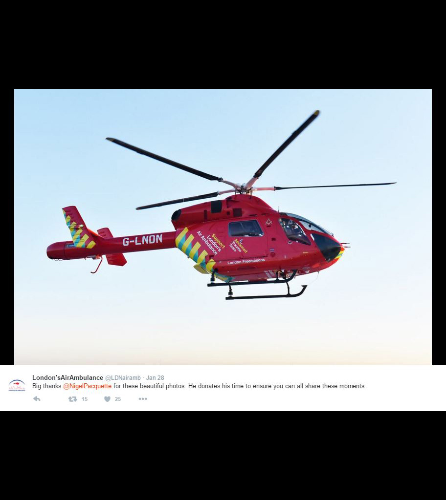 2016 - The arrival of the second helicopter London's Air Ambulance