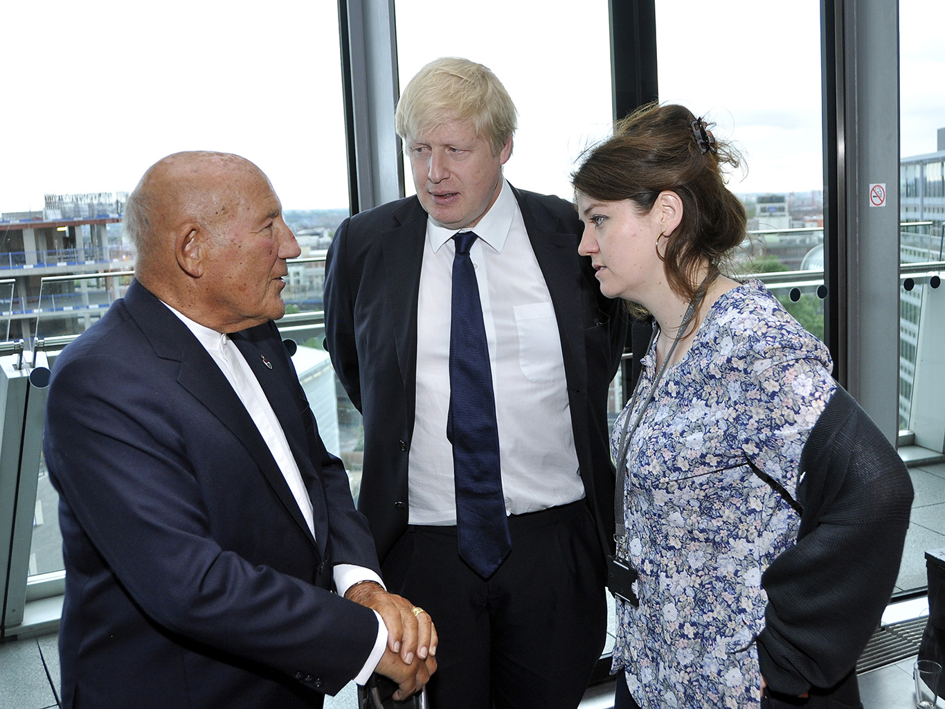 Sir Sterling Moss and Mayor of London, Boris Johnson London's Air Ambulance