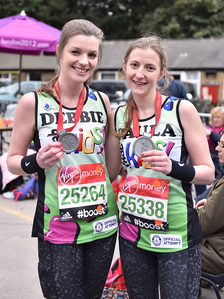 London Marathon 2015  Debbie & Paula achieved a World Record for the fastest three-legged marathon!  Phab Kids