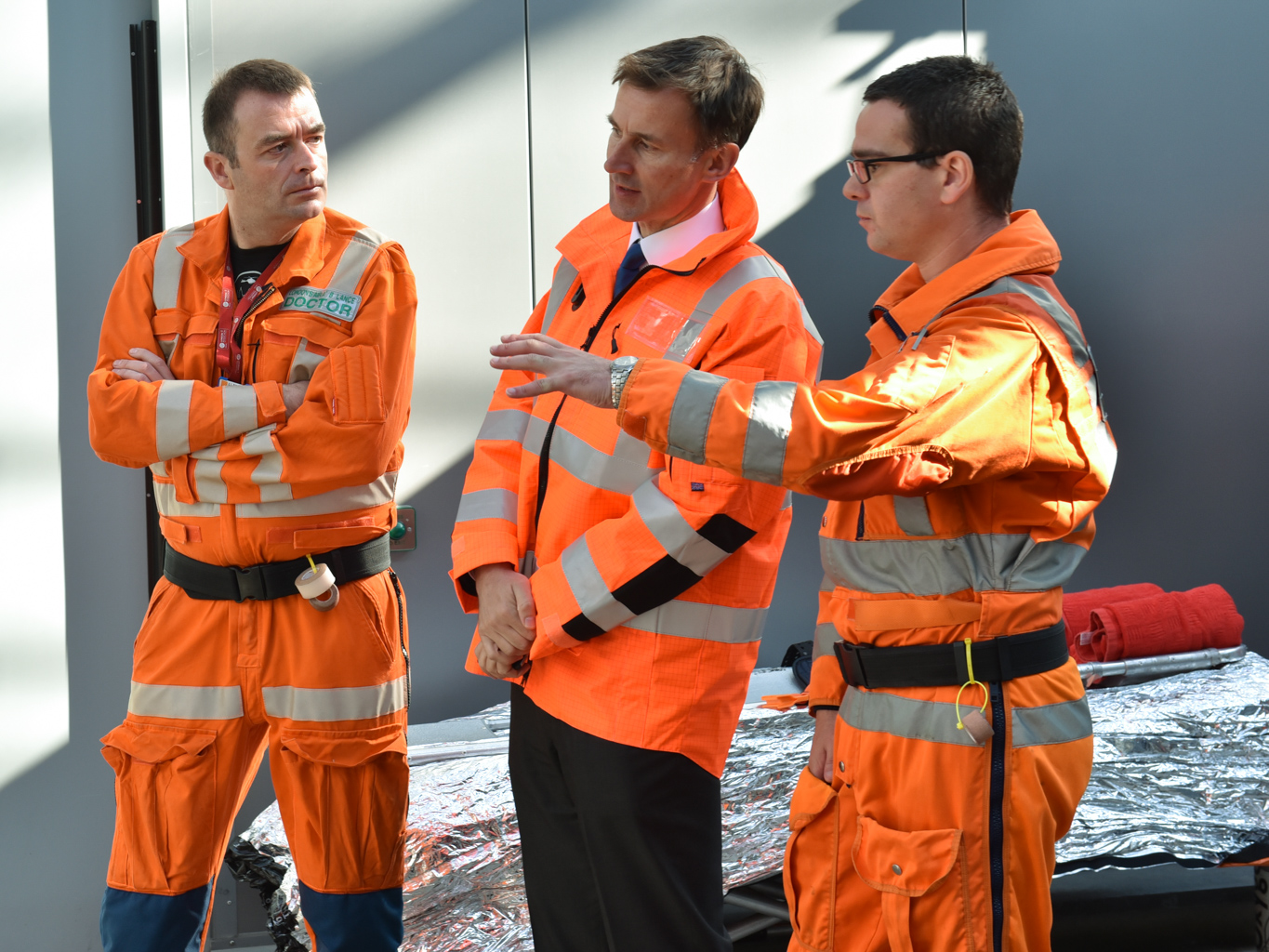 Secretary of State for Health Jeremy Hunt. London's Air Ambulance
