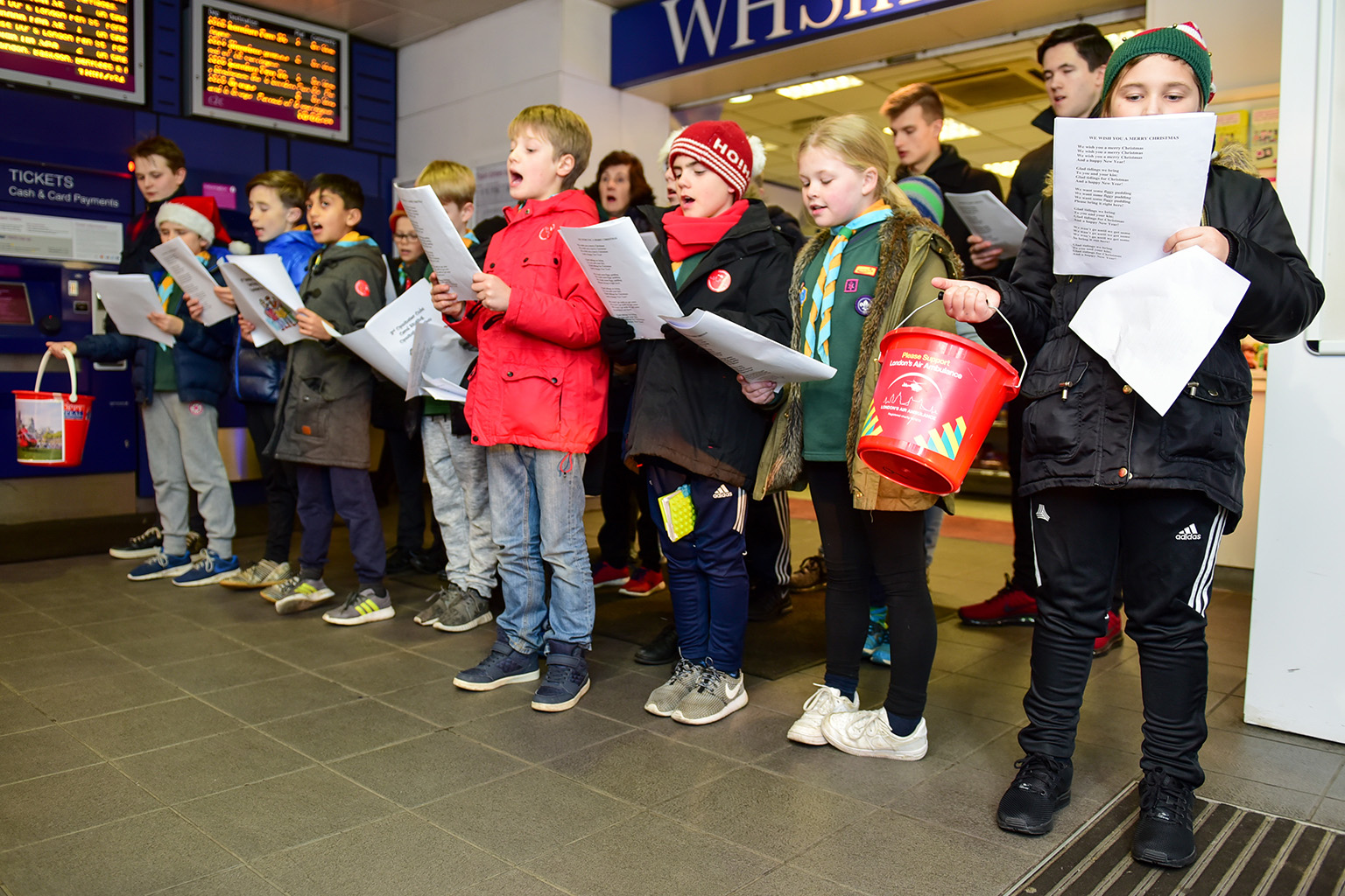 Carol Singing for London's Air Ambulance