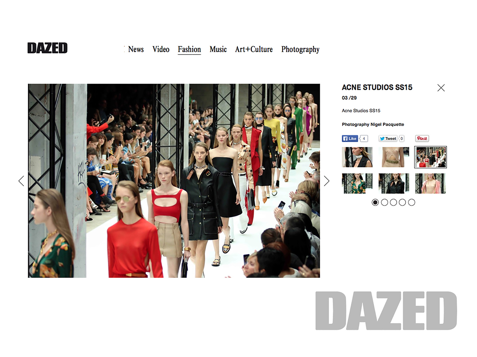 Designer: Acne Studio for Dazed & Confused Magazine